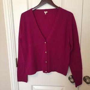 J.Crew Jewel Button Cardigan Sweater